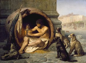 Reproduction oil paintings - Jean-Léon Gérôme - Diogenes