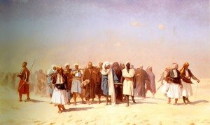 Reproduction oil paintings - Jean-Léon Gérôme - Egyptian Recruits Crossing The Desert
