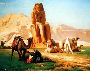 Famous paintings of Camels: Memnon And Sesostris