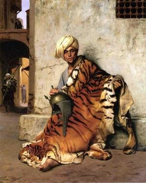 Reproduction oil paintings - Jean-Léon Gérôme - Pelt Merchant Of Cairo