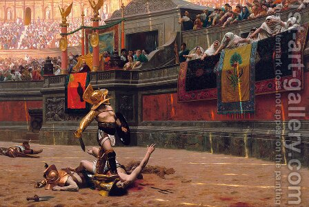 Jean-Léon Gérôme: Pollice Verso (Thumbs Down) - reproduction oil painting