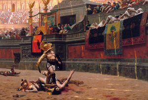 Academic Classicism painting reproductions: Pollice Verso (Thumbs Down)