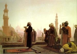 Reproduction oil paintings - Jean-Léon Gérôme - Prayer In Cairo