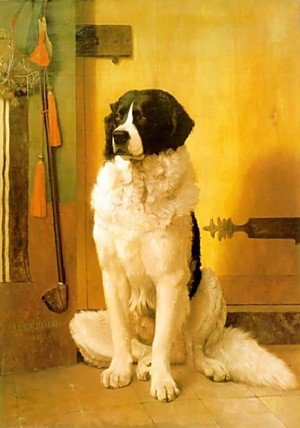 Reproduction oil paintings - Jean-Léon Gérôme - Study Of A Dog