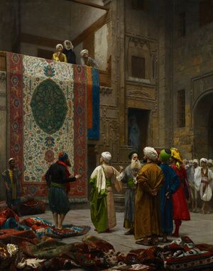 Famous paintings of Markets: The Carpet Merchant