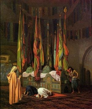Reproduction oil paintings - Jean-Léon Gérôme - The Sentinel At The Sultans Tomb