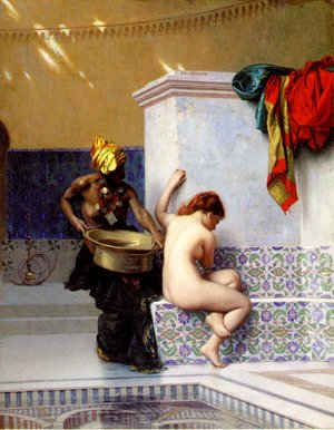 Turkish Bath Or Moorish Bath   Two Women