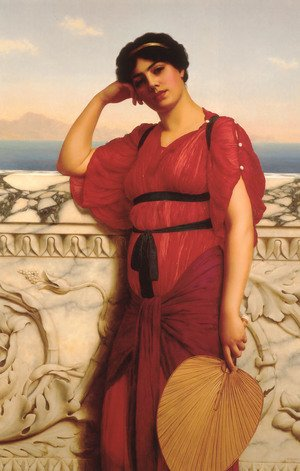 Reproduction oil paintings - John William Godward - A Classical Lady