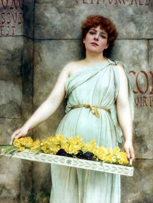 Reproduction oil paintings - John William Godward - A Flower Seller