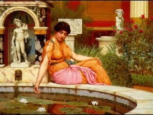 John William Godward reproductions - A Lily Pond