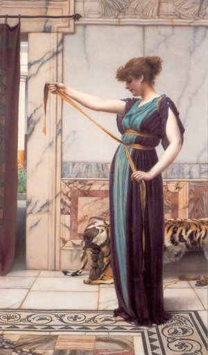 Reproduction oil paintings - John William Godward - A Pompeian Lady