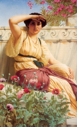 Reproduction oil paintings - John William Godward - A Tryst