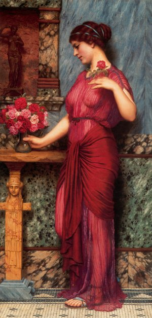 Reproduction oil paintings - John William Godward - An Offering To Venus