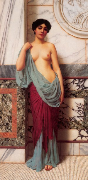 Reproduction oil paintings - John William Godward - At The Thermae
