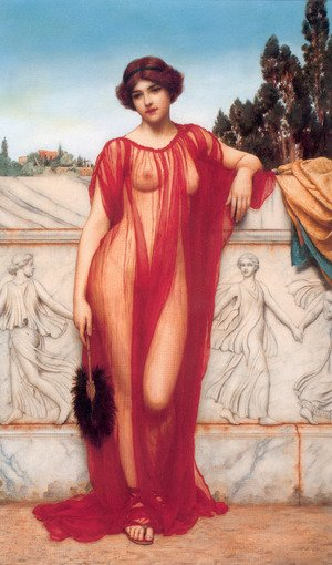Reproduction oil paintings - John William Godward - Athenais