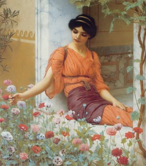 Reproduction oil paintings - John William Godward - Summer Flowers