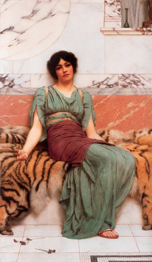 Reproduction oil paintings - John William Godward - Sweet Dreams