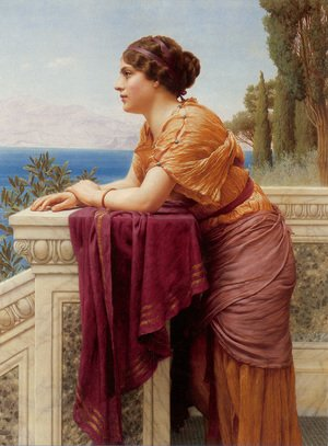 Reproduction oil paintings - John William Godward - The Belvedere