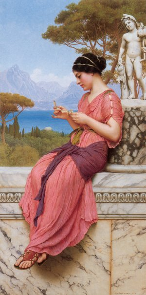 Reproduction oil paintings - John William Godward - The Love Letter