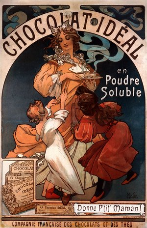 Reproduction oil paintings - Alphonse Maria Mucha - Chocolat Ideal