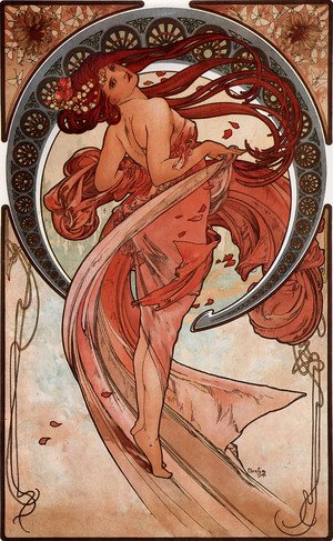Reproduction oil paintings - Alphonse Maria Mucha - Dance