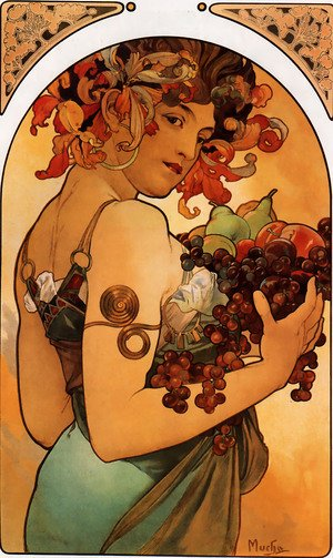 Reproduction oil paintings - Alphonse Maria Mucha - Fruit
