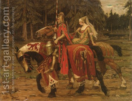 Heraldic Chivalry by Alphonse Maria Mucha - Reproduction Oil Painting