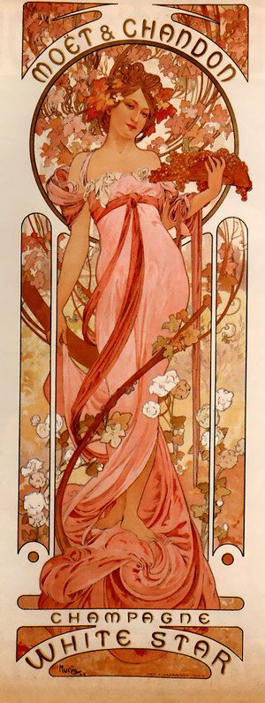 Reproduction oil paintings - Alphonse Maria Mucha - Moet And Chandon White Star