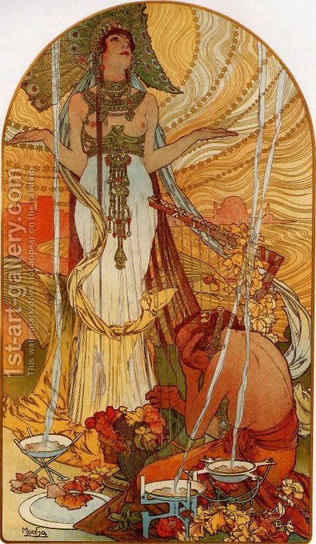 Salammbo by Alphonse Maria Mucha - Reproduction Oil Painting
