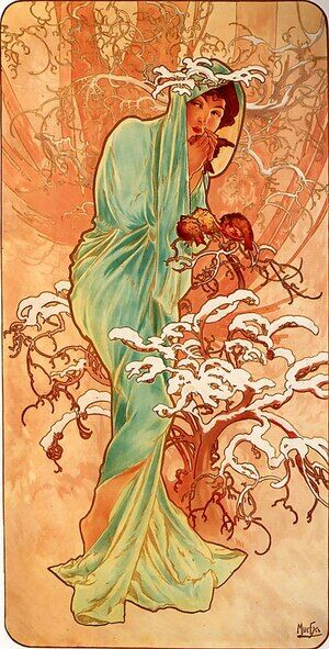 Reproduction oil paintings - Alphonse Maria Mucha - Winter