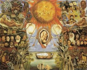 Reproduction oil paintings - Frida Kahlo - Moses Nucleus Of Creation