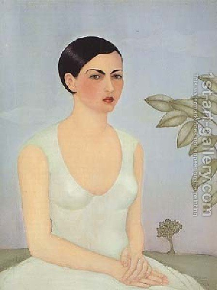 Frida Kahlo: Portrait Of Christina My Sister - reproduction oil painting