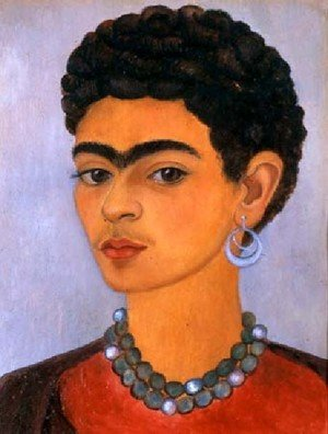 Reproduction oil paintings - Frida Kahlo - Self Portrait With Curly Hair