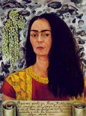 Reproduction oil paintings - Frida Kahlo - Self Portrait With Loose Hair