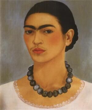 Reproduction oil paintings - Frida Kahlo - Self Portrait With Necklace