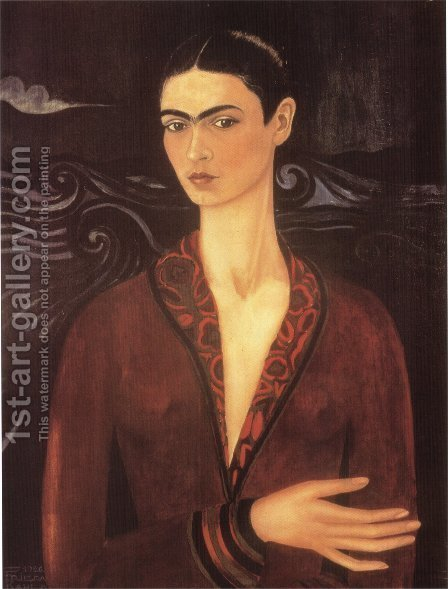 Self Portrait 1926 by Frida Kahlo - Reproduction Oil Painting