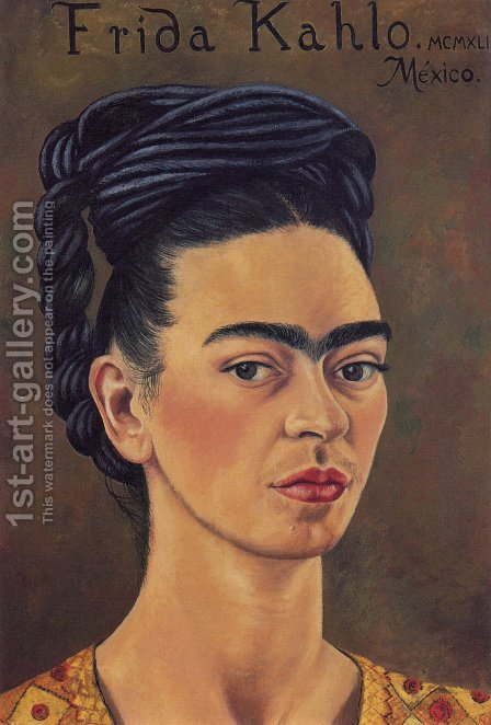 Self Portrait 1941 by Frida Kahlo - Reproduction Oil Painting