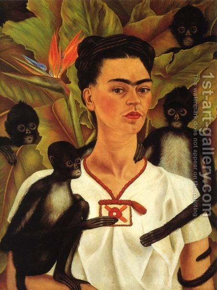 Self Portrait 1943 by Frida Kahlo - Reproduction Oil Painting