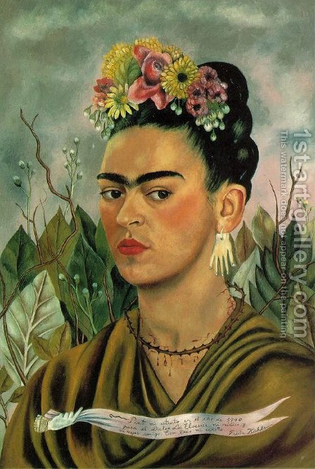 Self Portrait II by Frida Kahlo - Reproduction Oil Painting
