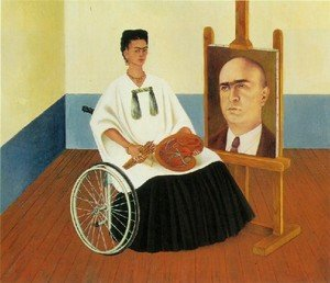 Reproduction oil paintings - Frida Kahlo - Self Portrait With The Portrait Of Doctor Farill