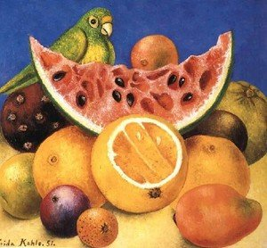 Reproduction oil paintings - Frida Kahlo - Still Life With Parrot