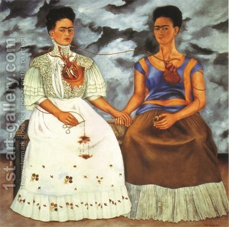 Frida Kahlo: The Two Fridas - reproduction oil painting