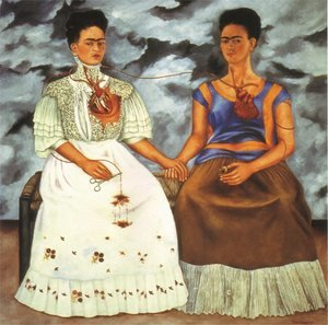Frida Kahlo reproductions - The Two Fridas