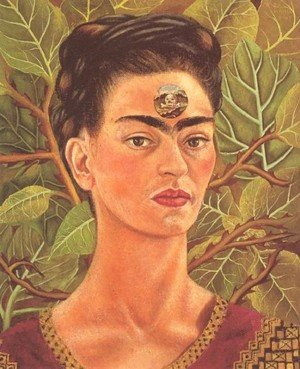 Reproduction oil paintings - Frida Kahlo - Thinking About Death