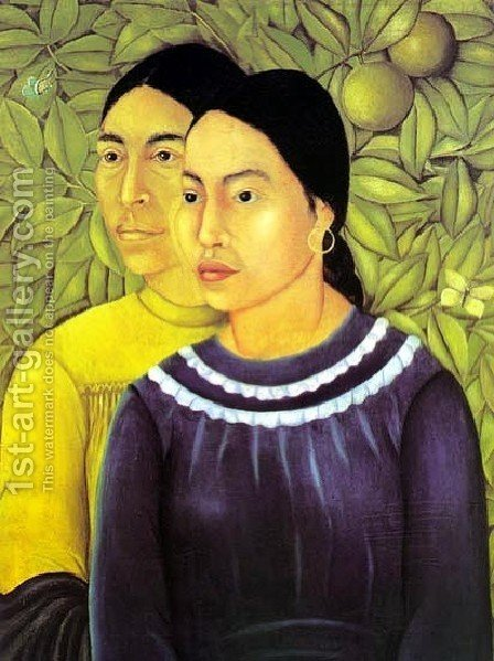 Two Women by Frida Kahlo - Reproduction Oil Painting