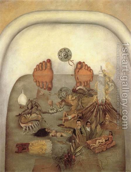 Frida Kahlo: What The Water Gave Me - reproduction oil painting