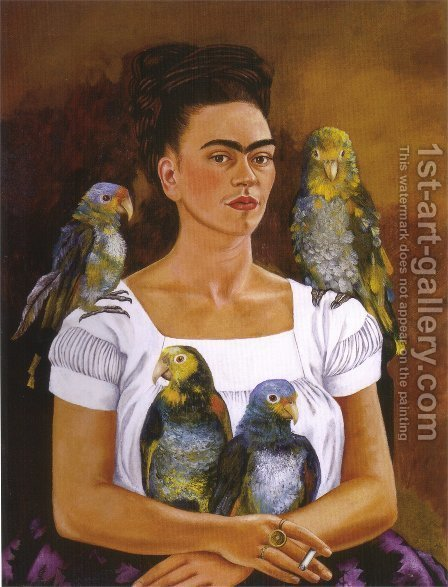 Frida Kahlo: Yo Y Mis Pericos - reproduction oil painting