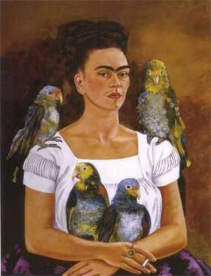 Famous paintings of Portraits: Yo Y Mis Pericos