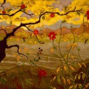 Oil painting reproductions - Nabis - Paul-Elie Ranson: Apple Tree With Red Fruit