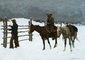 Famous paintings of Transportation: The Fall Of The Cowboy